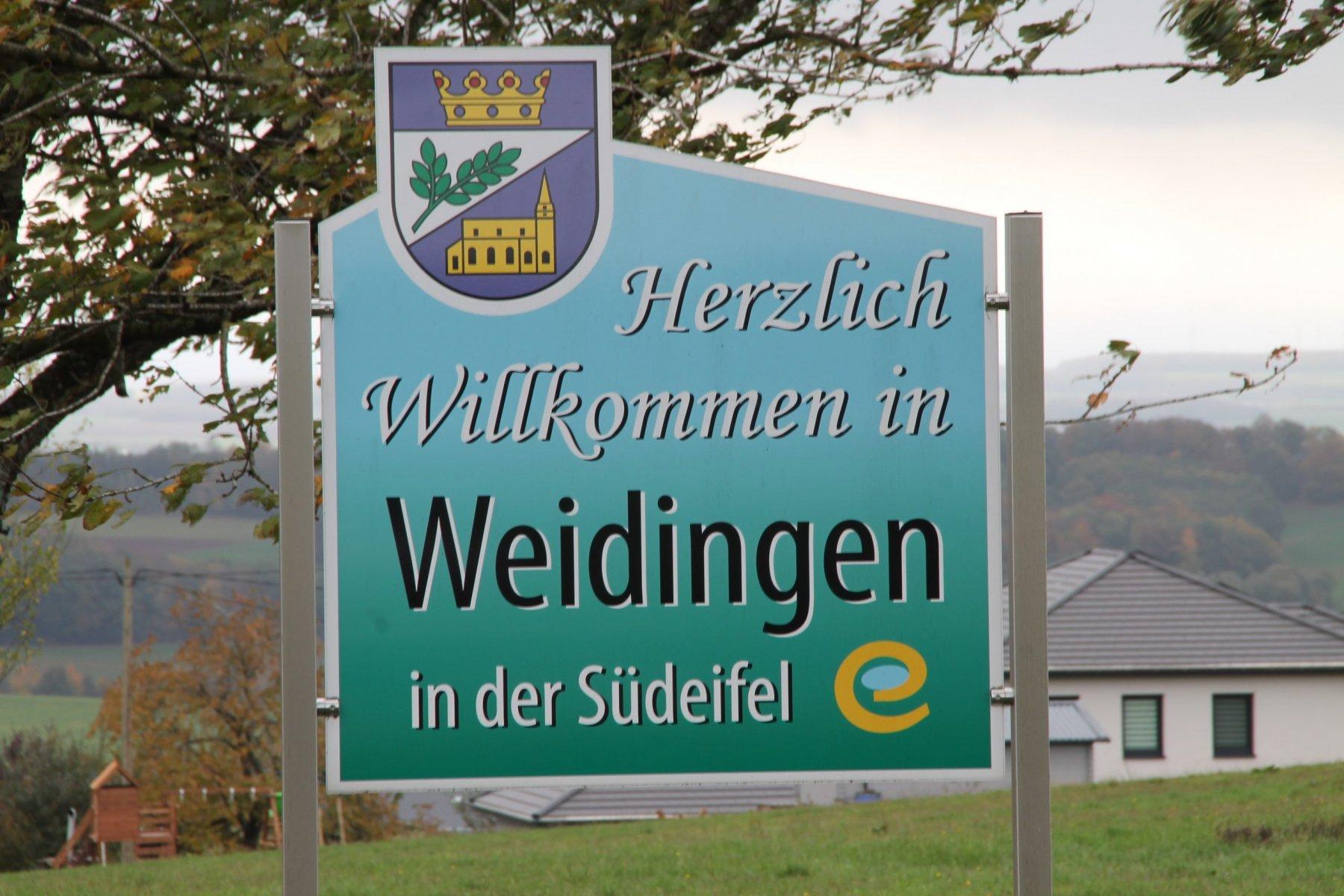 Schild Ortseingang aus Richtung Philippsweiler